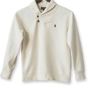 Boy's Ralph Lauren Cotton Shawl Collar Sweatshirt